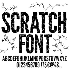 Cracked Font vector