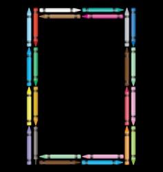 crayon frame vector image