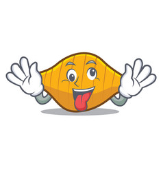 Crazy conchiglie pasta mascot cartoon vector