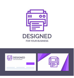 Creative business card and logo template printer vector
