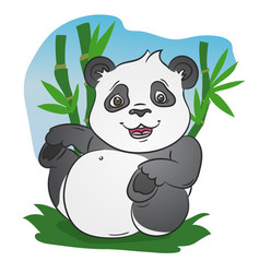 cute little panda vector image