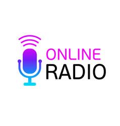 design logo online radio or color icon vector image