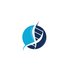 dna genetic logo design template vector image