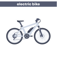 Electric bike on white vector