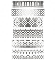 embroidery borders vector image