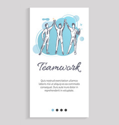 Employees cooperation teamwork strategy vector