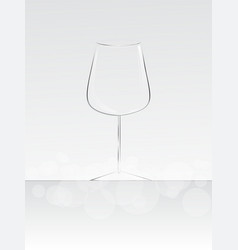 empty glass for wine vector image