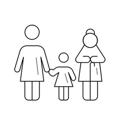 Family generation line icon vector
