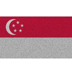 Flags Singapore on denim texture vector