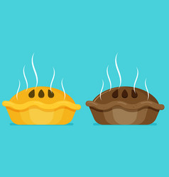 flat pie baking sweet sign vector image