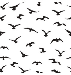 flying birds tiled pattern freedom sign vector image
