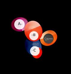 Glass circles on black vector