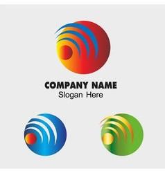Globe communications network sign symbol vector