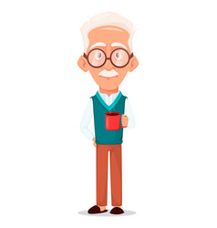 Grandfather wearing eyeglasses vector