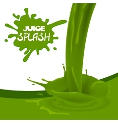 Green apple kiwi juice vector image