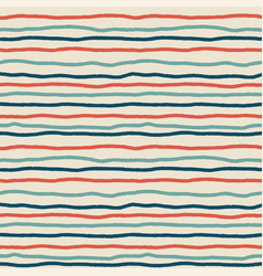 Grunge stripe brush pattern vintage tropical vector