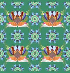 hip fabric pattern seamless vintage flower pattern vector image