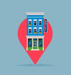 hotel search concept inn icon pictograph vector image