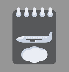 icon in flat design for airport aircraft vector image