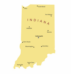 indiana cities map vector image