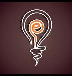 internet symbol in bulb vector image