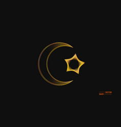 islamic design background with crescent vector image
