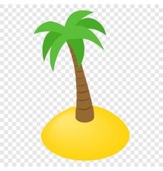 Island isometric 3d icon vector