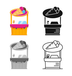 Kiosk and cart symbol vector