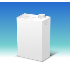 Milk or juice pack realistic vector
