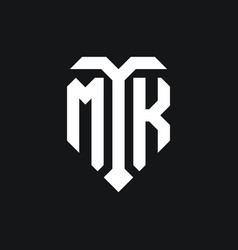 Mk logo monogram design template vector