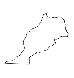 Morocco map of black contour curves on white vector