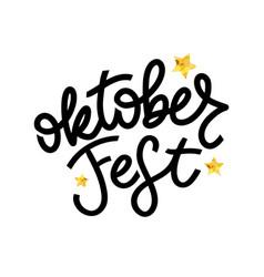Oktoberfest handwritten lettering oktoberfest vector