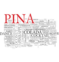 Pina word cloud concept vector