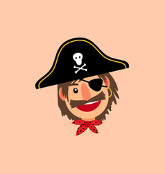 pirate head icon vector image