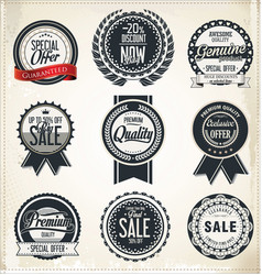 retro vintage labels collection vector image