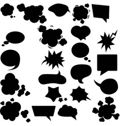 set different speech bubbles and elements vector image