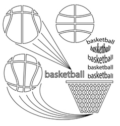 Set of Sport Basketball Icons vector image