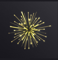 shiny golden firework isolated on transparent vector image