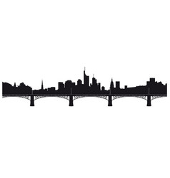 skyline frankfurt and ignatz bubis bridge vector image