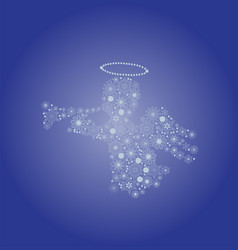 snowflake angel vector image