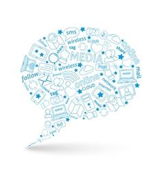 Social media bubble icon vector image