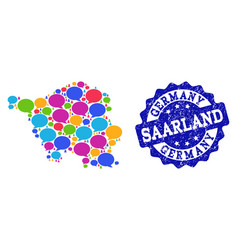 Social network map of saarland state with speech vector