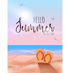 Summer beach travel vocation design Sun beach vector