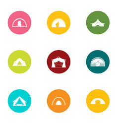Tabernacle icons set flat style vector