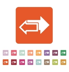 The left and right arrows icon Arrows symbol vector image