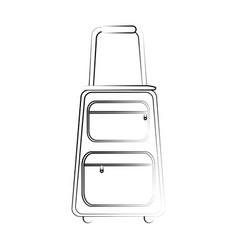 travel suitcase icon image vector image