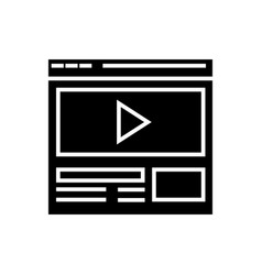 video marketing - online video clip icon vector image