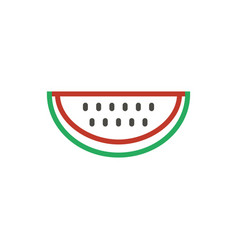 watermelon red icon outline color fresh fo vector image