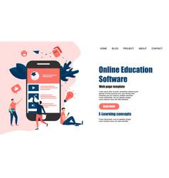 webpage template online education app vector image