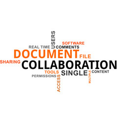 word cloud - document collaboration vector image